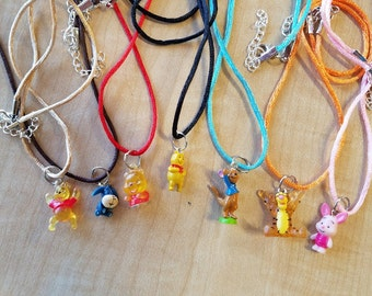 10 Pieces - Winnie the Pooh and Friends  Necklaces Party Favor