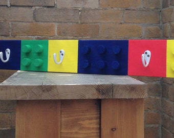 Building block lego coat rack