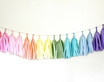 Tissue Paper Garland- Good for any occasion! Bridal shower, engagements, weddings, baby showers, birthdays, etc!
