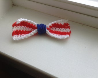 Beautiful  Red White and Blue hair clip