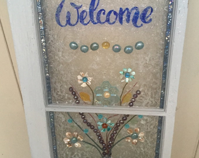 SOLD    Welcome to our Home window art