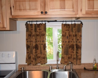 Cafe curtains, valance, window treatments, home decor, toppers