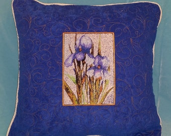 Quilted Pillow with Embroidery