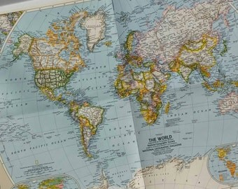 National Geographic Global Persuit World Map