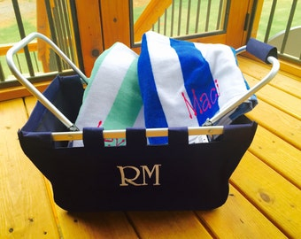 Market tote / Beach Tote / Pool Tote / Picnic tote / Game Day / Monogrammed basket