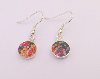Sweet candy sprinkle wire earrings