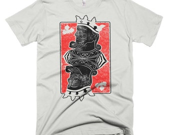 Poker king tshirt,  Men distress vintage T-shirt, american apparel tee, super soft tshirt, Men's Small Through 3XL shirts