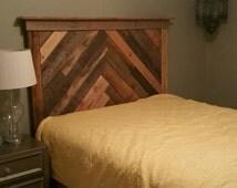 Full size pallet wood headboard