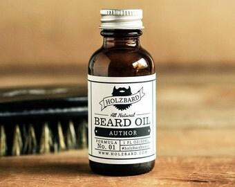 Author Beard Oil - Cedarwood, Lavender, Bergamot, All Natural Beard Conditioner, Woodsy Floral Fragrance, Gifts for Men, Organic Beard Oil
