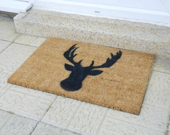 Stags Head doormat - 60x40cm