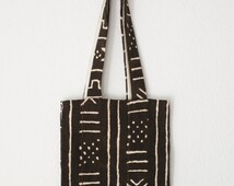 Cotton canvas shoping bag with African fabric, African tissue shop bag, black and with african print tote bag. Black handle-AnahataBoutique.