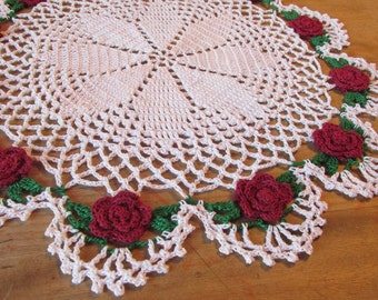 Vintage Crochet Romantic Rose (FREE Shipping!!)