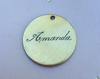 12kt gold filled charm Amanda