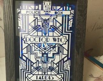 Dr who tribal tardis frame 5x7