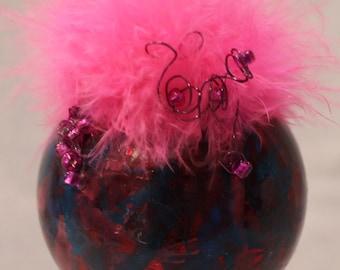 Hot Pink Boa Ornament