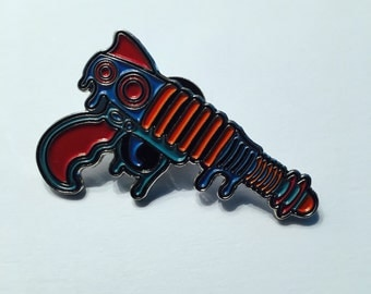Limited Edition Sci-Fi Laser Gun Lapel Pin Collectible Hatpin Pew Pew