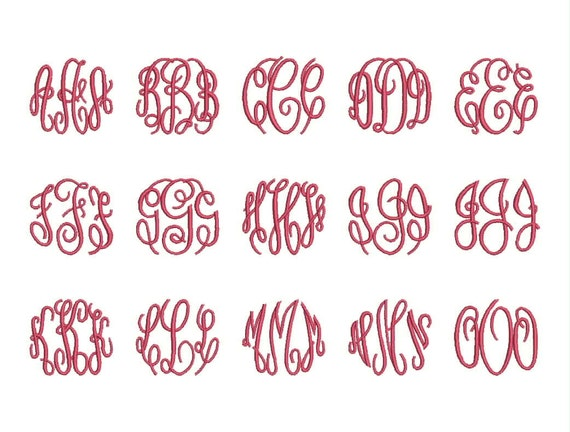 master circle monogram font embroidery fonts