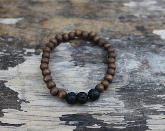 The Wood and Lava Stone Bracelet