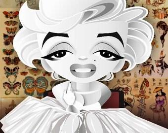 Marilyn Tattoo postcard