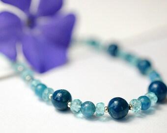 Apatite gemstone necklace