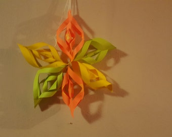 Make your own 3D paper stars