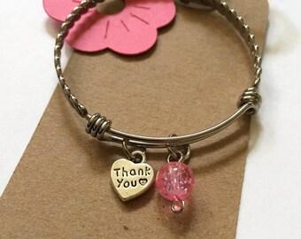 Flower Girl Thank You Gift Bridesmaid Girls Bangle