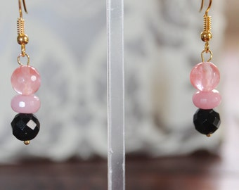 Pink Agate in Gold