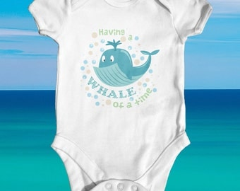 Having A Whale Of A Time baby bodysuit | cute baby clothes | funny baby bodysuit | baby shower gift | newborn baby clothes | Arctic baby