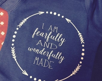 Fearfully and wonderfully made Onesie