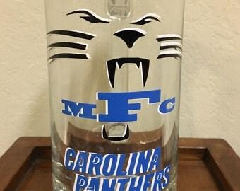 Monogrammed Panthers Beer Mug - Personalized Beer Mug