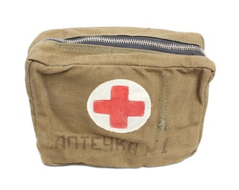 "Soviet military bag medicine chest ""Aptechka"""