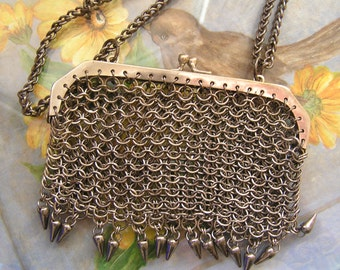 Antique Steel Chain Mail Bag