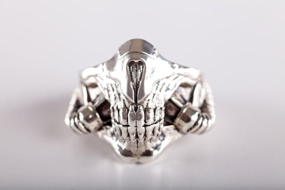 Ring Mask tribute Mad Max- (made in ITALY, Sterling Silver 925)