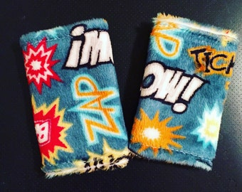 Super hero MINKY strap covers