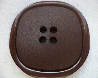 8 large dark brown KNOBS 30mm (2299) brown coat buttons jacket buttons