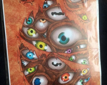 Evil Eyes inside Limited A3 Print