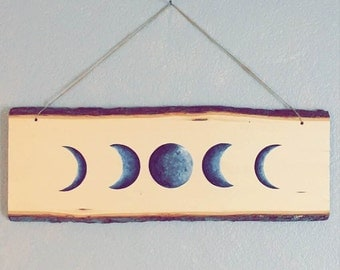 Moon Phases Painting on wood