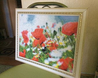 diamond, painting, art, mosaics