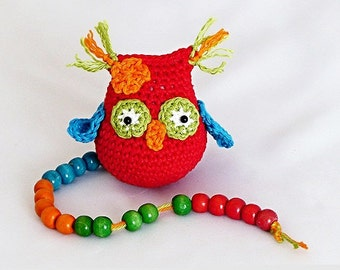 "ebook: Amigurumi ""Mia, the math-loving owl"" Crochet Pattern"