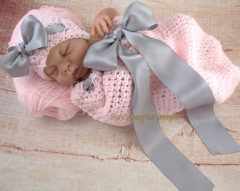 Crochet Pattern Baby Girl Cocoon And Hat Set Pattern Baby Girl Crochet Pattern Photography Prop Newborn Crochet Pattern Easy Crochet Pattern