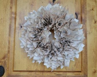 Tufted Book Wreath