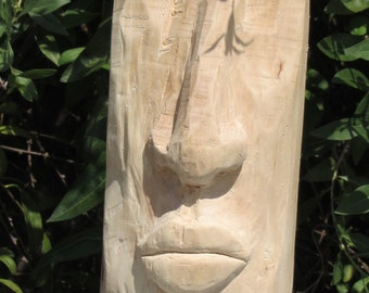 Wood sculpture made of untreated bushes