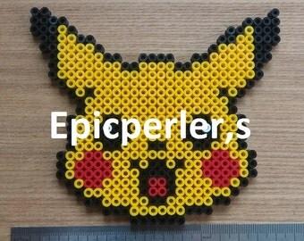 pikachu face perler bead art hama bead art fuse bead art