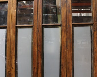 Vintage Architecture - decorative wood and glass door set