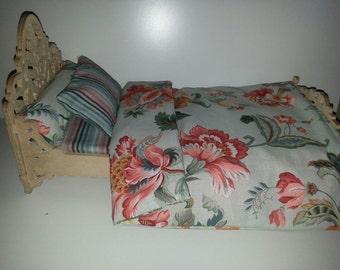 Vintage doll bed linen set - 4 pcs.