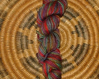 100% Silk, Single Ply, DK Weight, 1.7 oz or 48.1g, Red, Turquoise, Blue, Purple and Gold Crochet Knit GB15