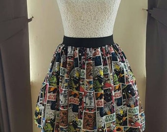 Adult's Star Wars - Comic Full Skater Skirt