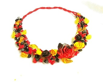 designer women's jewelry - natural stone and polymer clay