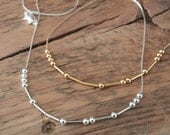 Morse Code Necklace - FREE Shipping - Gold or Silver-plated - Personalized Necklace - Delicate Jewelry - Bridesmaids Gifts - Sister Gift