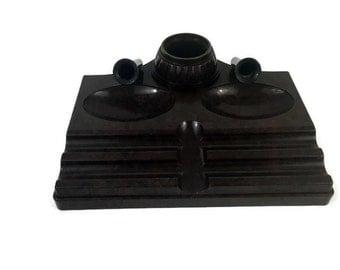 Bakelite Inkwell/Desk Organizer/Lamp Base by Atlas Appliance - Vintage 1930's